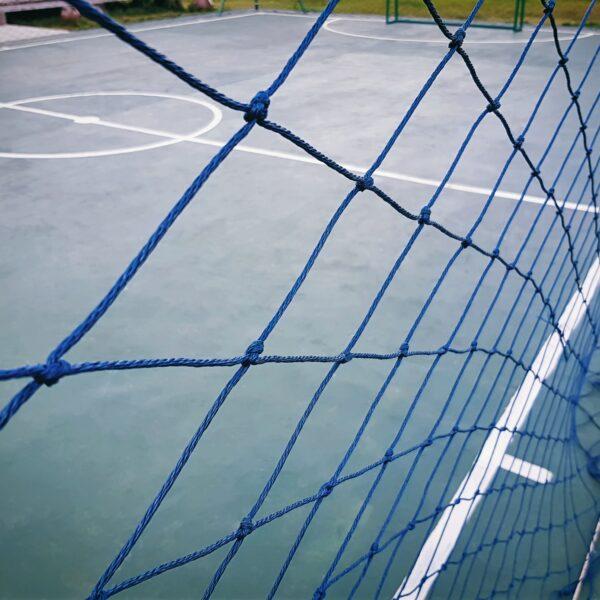Full Frame Blue Net Around the Futsal Field